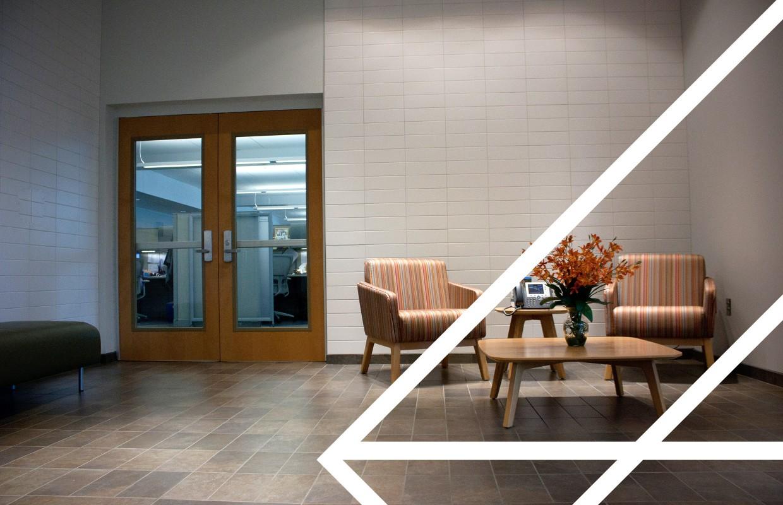 Reception furniture at West Virginia Housing Developement Fund