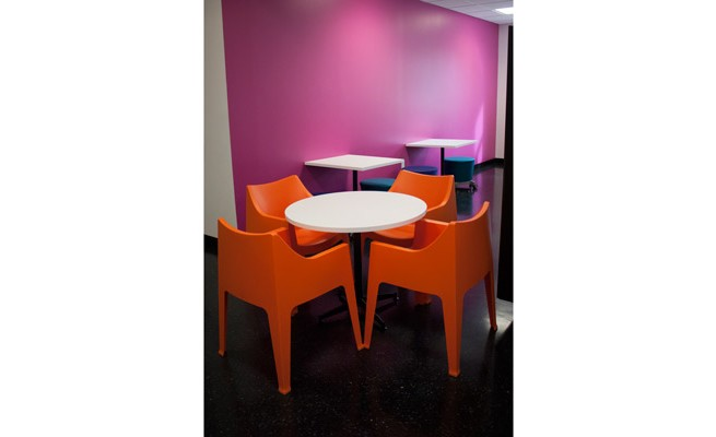 INTO Marshall University Cafe Tables and Chairs