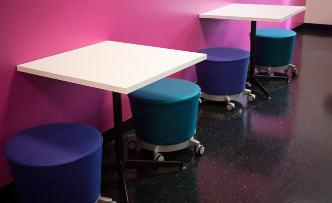 INTO Marshall University Cafe Tables and Stools