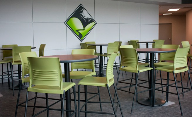 Kanawha Valley Community and Technical College Lobby Cafe Tables and Stools