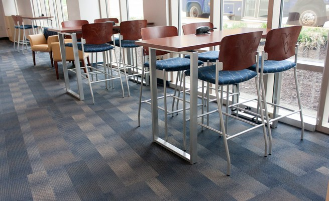 West Virginia University Admissions Cafe Tables