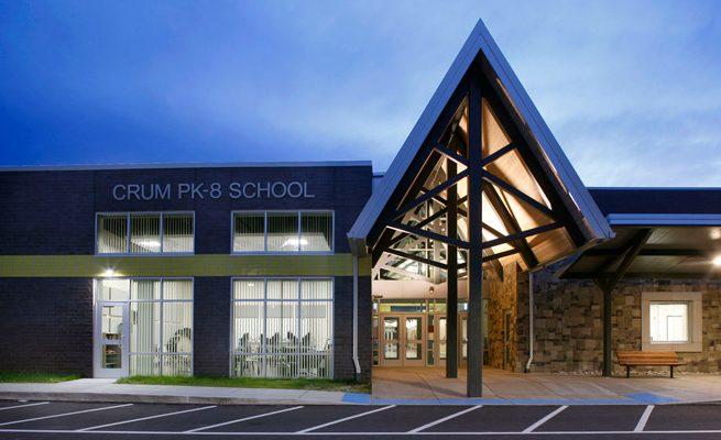 Crum PK-8 School Exterior