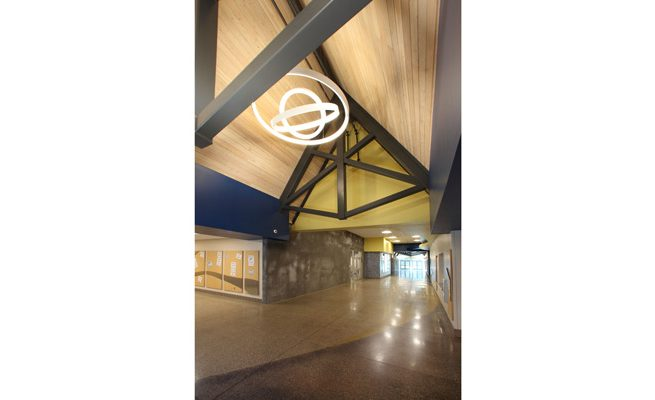 Crum PK-8 School Interior Entrance